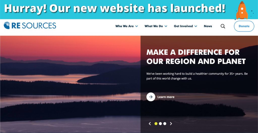 RE Sources website redesign 2019